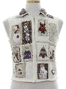 Womens Country Kitsch Style Ugly Christmas Sweater Vest