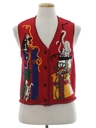 Womens Cat-Tastic Ugly Christmas Sweater Vest