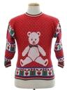Unisex Girls or Boys Vintage Bear-riffic Ugly Christmas Sweater