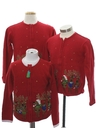 Unisex Kids Ugly Christmas Matching Set of Three Sweaters