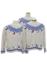 Womens Ugly Christmas Matching Set of Three Sweaters