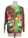 Unisex Vintage Multicolor Lightup  Hand Tie Dyed Ugly Christmas Sweatshirt