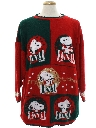 Unisex Vintage Snoopy Ugly Christmas Sweater