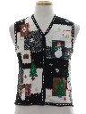 Womens or Girls Country Kitsch Ugly Christmas Sweater Vest