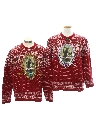 Unisex Krampus Ugly Christmas Matching Set of Sweaters