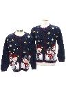 Unisex Ugly Christmas Matching Set of Sweaters