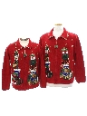Unisex Bear-riffic Ugly Christmas Matching Set of Sweaters