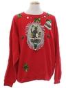 Unisex Vintage Krampus Ugly Christmas Sweatshirt