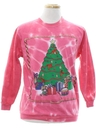 Unisex Vintage Hand Tie Dyed Ugly Christmas Sweater