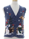 Unisex Girls or Boys Ugly Christmas Sweater Vest