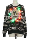 Mens Multicolor Lightup Krampus Ugly Christmas Sweater