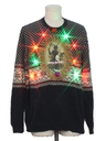 Mens Multicolor Lightup Ugly Christmas Sweater