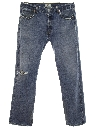 Mens Grunge Button Fly Straight Leg Levis 501s Jeans Pants