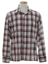 Mens 80s Plaid Sport Shirt