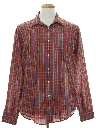 Mens 80s Plaid Shirt