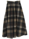Womens Plaid Wool Skirt