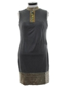 Womens Mod Asian Inspired Cocktail Shift Dress