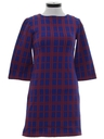 Womens Mod Knit A-Line Mini Dress