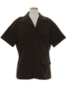 Mens Safari Style Leisure Shirt Jacket