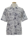 Mens Print Disco Resort Wear Style Shirt
