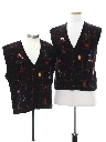 Unisex Ladies or Boys Ugly Christmas Matching Set of Sweater Vests