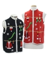Unisex Ugly Christmas Matching Set of Sweater Vests