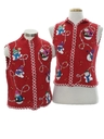 Womens or Girls Ugly Christmas Matching Set of Sweater Vests