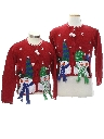 Womens/Girls Ugly Christmas Matching Set of Sweaters