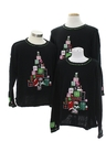 Unisex Ugly Christmas Matching Set of Three Sweaters
