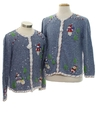 Unisex and Ladies Ugly Christmas Matching Set of Sweaters
