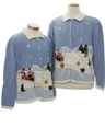 Unisex Ugly Christmas Matching Set of Sweaters