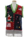 Unisex Patriotic Hand Embellished Ugly Christmas Sweater Vest
