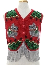 Womens Hand Embellished Dog-Gonnit Ugly Christmas Sweater Vest