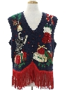 Unisex Hand Embellished Cat-Tastic Ugly Christmas Sweater Vest