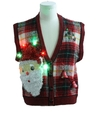 Womens Hand Embellished Ugly Christmas Sweater Vest