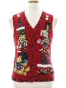 Unisex Ladies, Girls or Boys Bear-riffic Ugly Christmas Sweater Vest