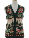 Unisex Country Kitsch Vintage Ugly Christmas Sweater Vest