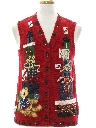 Unisex Bear-riffic Ugly Christmas Sweater Vest