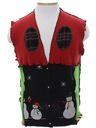 Unisex Hand Made Patchwork Ugly Christmas Sweater Vest