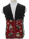 Unisex Hand Made Bear-riffic Patchwork Ugly Christmas Sweater Vest