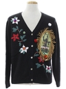 Unisex Krampus Ugly Christmas Cardigan Sweater