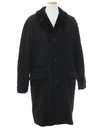 Mens Mod Long Wool Overcoat Car Coat