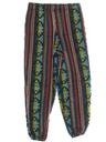 Mens Baggy Print Guatemalan Pineapple Express style Hippie Pants