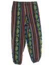 Mens Baggy Print Guatemalan Pineapple Express style Hippie Pants