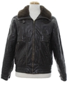 Mens Members Only Bomber Leather Jacket