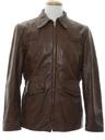Mens Car Coat Style Leather Jacket