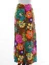 Womens Pow-Flower Hippie Skirt