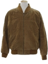 Mens Suede Leather Bomber Jacket