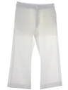 Mens Disco Style Bellbottom Navy Issue White Polyester Pants