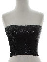 Womens Sequined Cocktail Tube Top Shirt